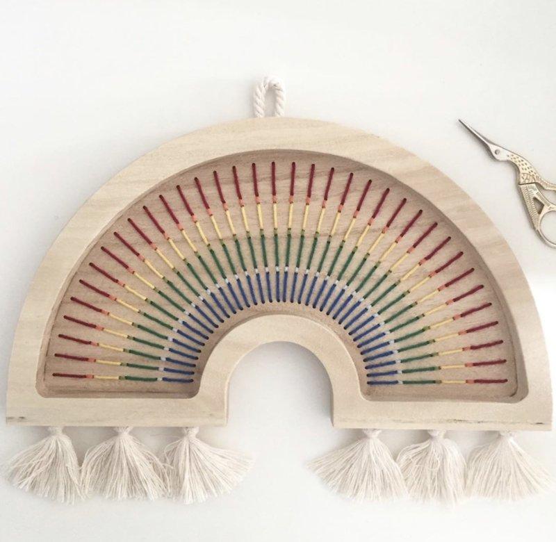 Wooden Rainbow, Medium- Colors of the Rainbow