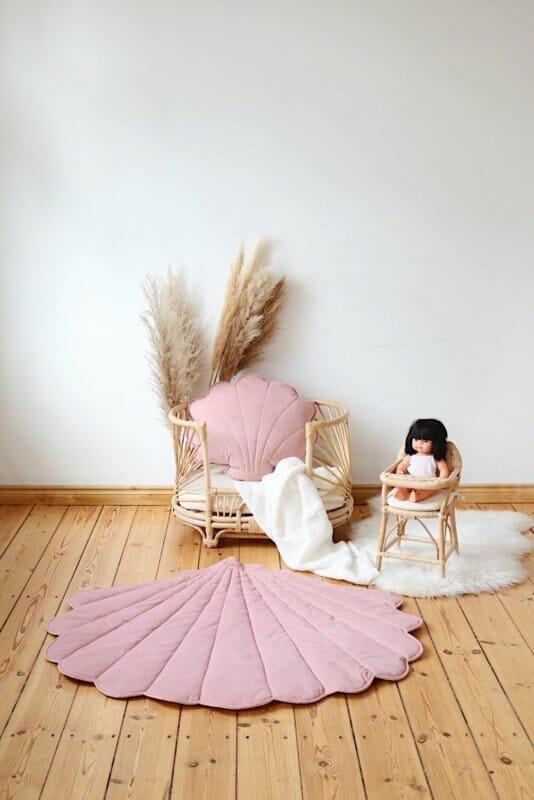 """Velvet Speelmat """"Shell-Pink """""""