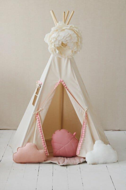 Tipi Tent 'Pink Pompom '
