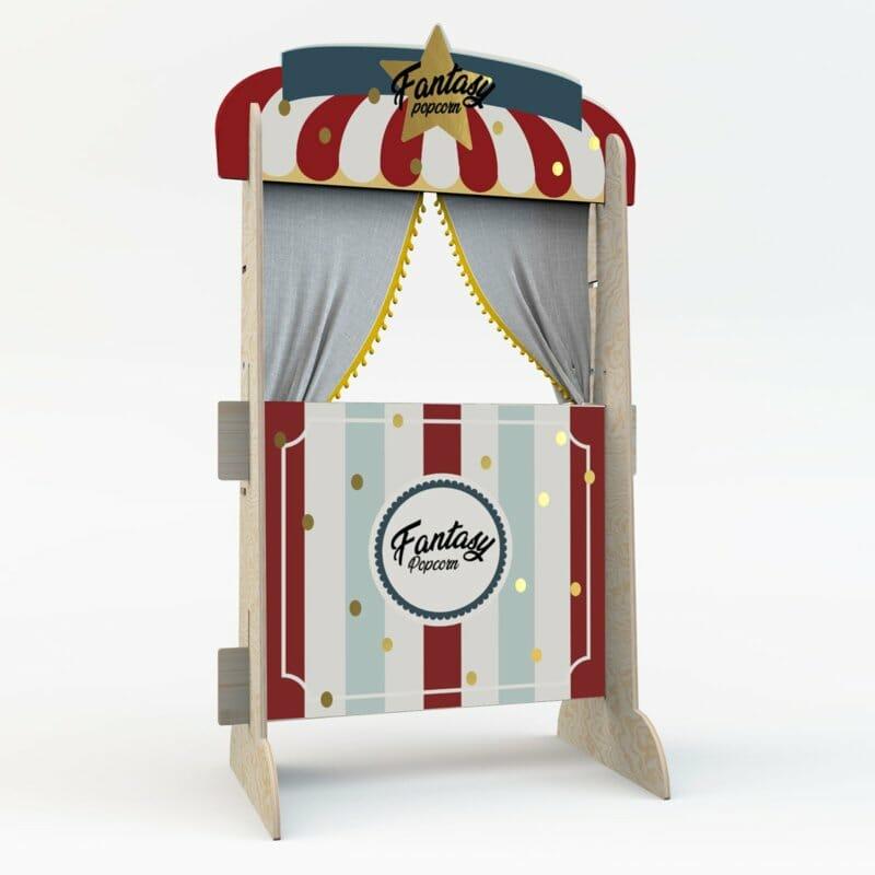 Houten Fantasy Popcorn & boekenkast in 1! '