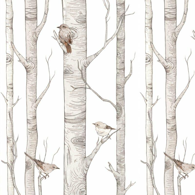 Birch Forest ' Behang