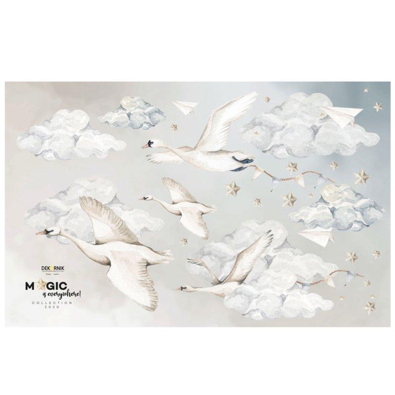 Muursticker Swans/Magic is everywhere