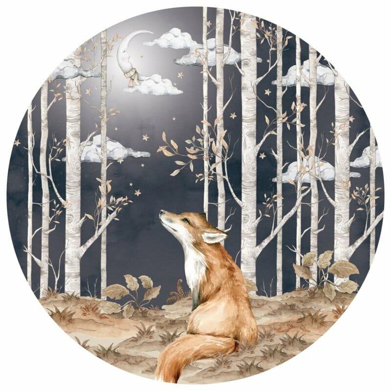 Wandsticker Fox in a Circle