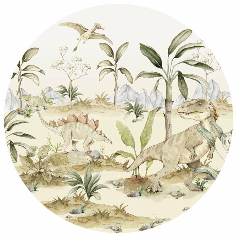 Wandsticker Dino World In A Circle