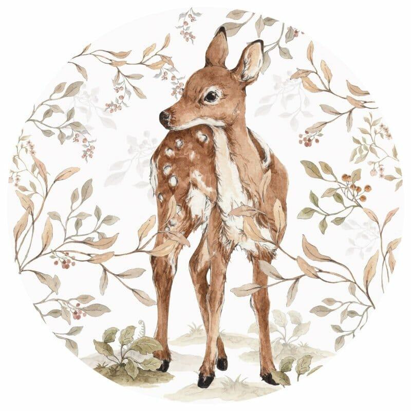Wandsticker Deer In A Circle