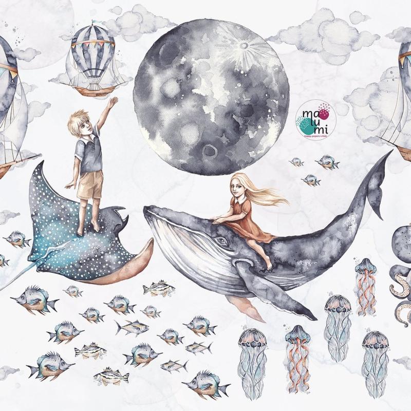 Ocean Deep Muursticker