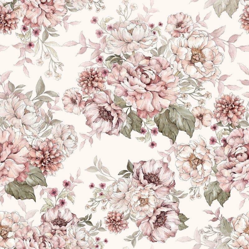 @dehuismuts Wallpaper Flowers - Dreamy Pink & Peony