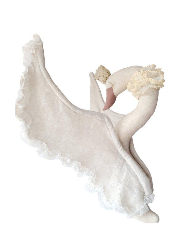 Swan, Linen & Lace- Beige