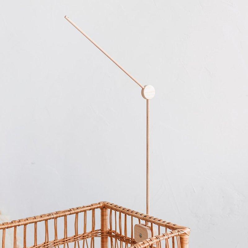 Baby crib wooden mobile holder