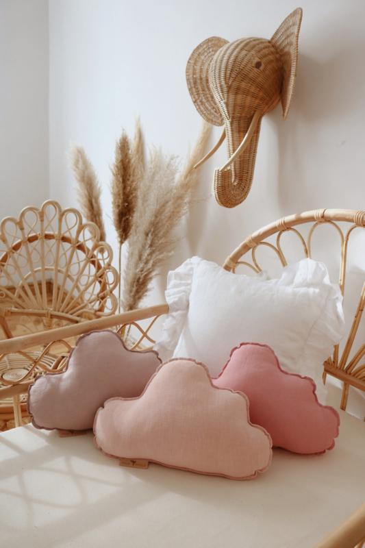 Sierkussen wolk, Delicaat roze-MoiMili