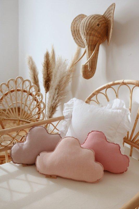 Sierkussen wolk, Powder Pink MoiMili